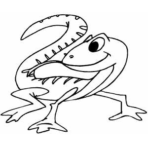 dibujo de lagarto para colorear